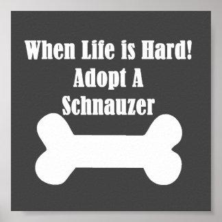 Adopt A Schnauzer Poster