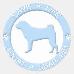 Adopt a Shar Pei Stickers