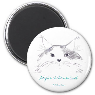 Adopt a shelter animal 2 inch round magnet