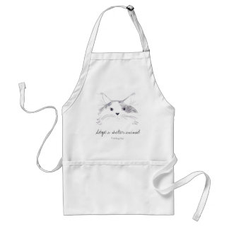 Adopt a shelter animal adult apron