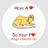 Adopt a Shelter Animal sticker