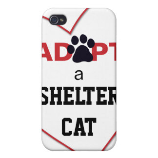 Adopt a Shelter Cat iPhone 4 Cover