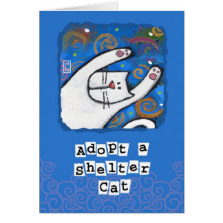 Adopt a Shelter Cat, Love a Cat Greeting Cards