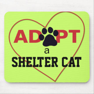 Adopt a Shelter Cat Mouse Pad