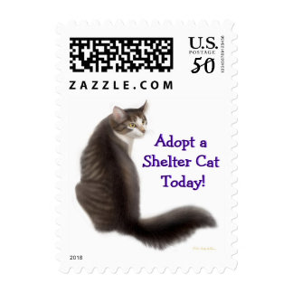 Adopt a Shelter Cat Postage