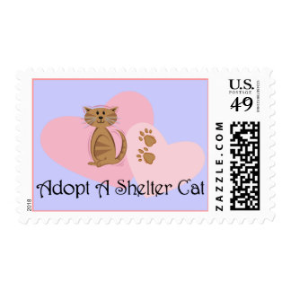 Adopt A Shelter Cat Stamps
