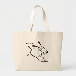 Adopt a Shelter Dog Canvas Bags