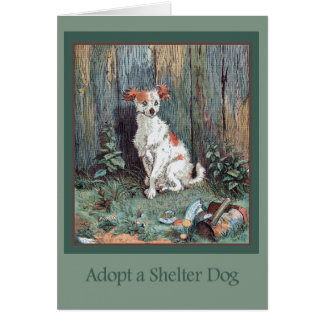 Adopt a Shelter Dog Card