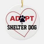 Adopt a Shelter Dog Christmas Tree Ornament