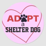 Adopt a Shelter Dog Classic Round Sticker