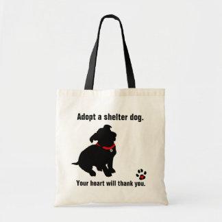 Adopt A Shelter Dog Design Canvas Bags