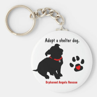 Adopt a Shelter Dog Design - Small Breed Basic Round Button Keychain