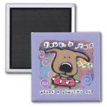 Adopt a shelter dog, Love a dog Magnets