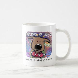 Adopt a shelter dog Love a dog Mugs