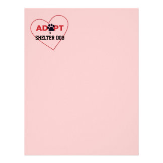 Adopt a Shelter Dog Personalized Letterhead