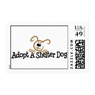 Adopt A Shelter Dog Postage Stamp