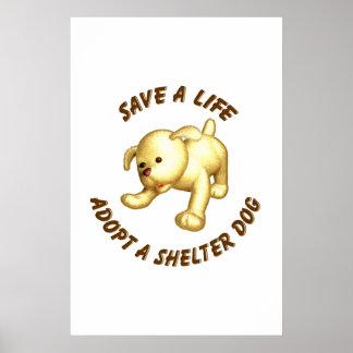 Adopt a shelter dog print