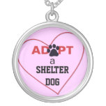 Adopt a Shelter Dog Silver Plated Necklace