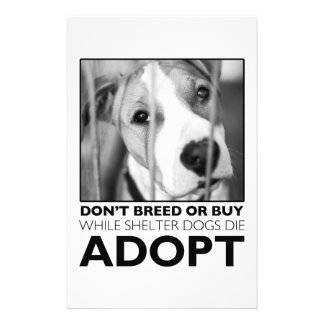 Adopt a Shelter Dog Customized Stationery