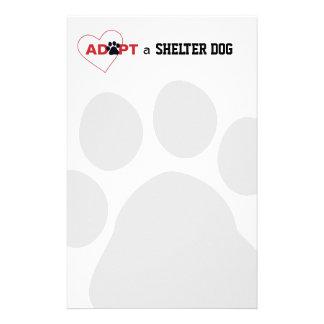 Adopt a Shelter Dog Stationery Design