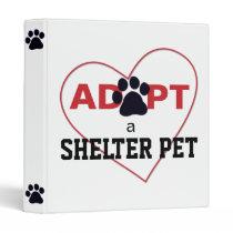 Adopt a Shelter Pet 3 Ring Binder