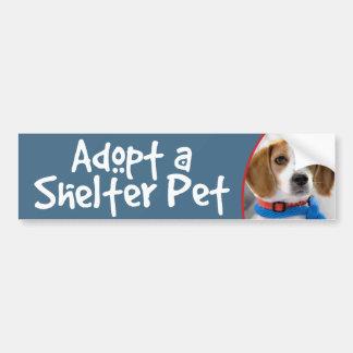 Adopt a Shelter Pet Beagle Bumper Sticker
