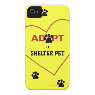 Adopt a Shelter Pet iPhone 4 Case-Mate Case