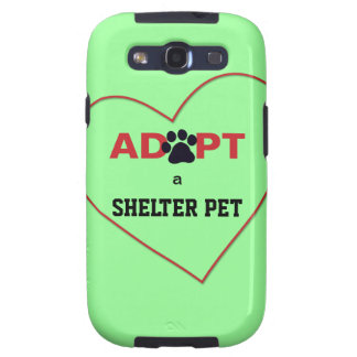 Adopt a Shelter Pet Galaxy S3 Cover