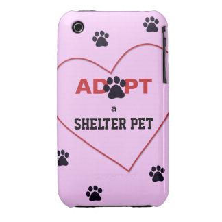 Adopt a Shelter Pet Case-Mate iPhone 3 Case