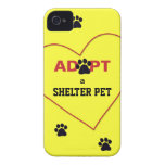 Adopt a Shelter Pet Case-Mate iPhone 4 Case