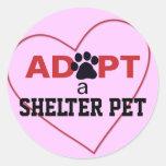Adopt a Shelter Pet Classic Round Sticker