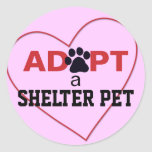 Adopt a Shelter Pet Classic Round Sticker
