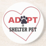 Adopt a Shelter Pet Drink Coaster