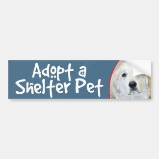 Adopt a Shelter Pet Great Pyrenees Car Bumper Sticker