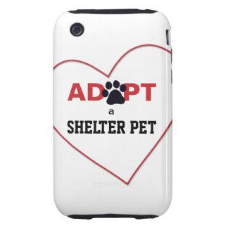 Adopt a Shelter Pet iPhone 3 Tough Cover
