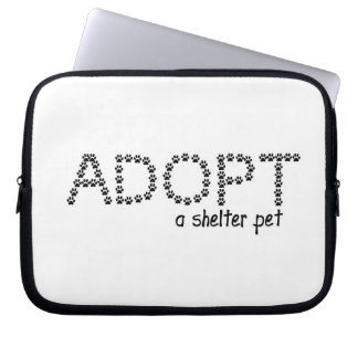 Adopt a Shelter Pet Paws Computer Sleeves