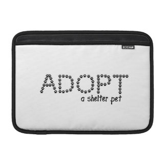 Adopt a Shelter Pet Paws MacBook Air Sleeves