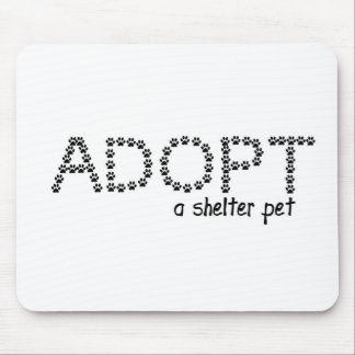 Adopt a Shelter Pet Paws Mouse Pad