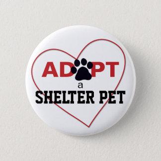 Adopt a Shelter Pet Pinback Button