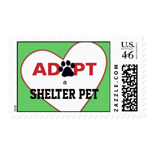 Adopt a Shelter Pet Stamp