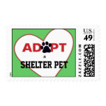 Adopt a Shelter Pet Postage Stamp