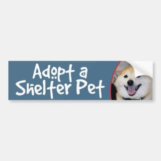 Adopt a Shelter Pet Shiba Inu Bumper Sticker