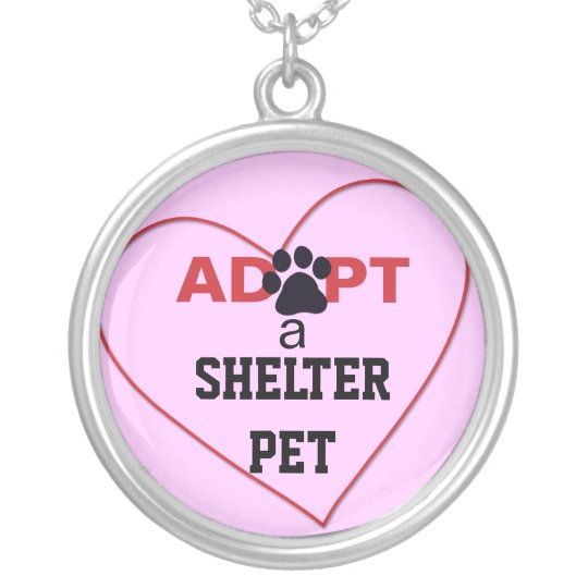 Adopt a Shelter Pet Silver Plated Necklace