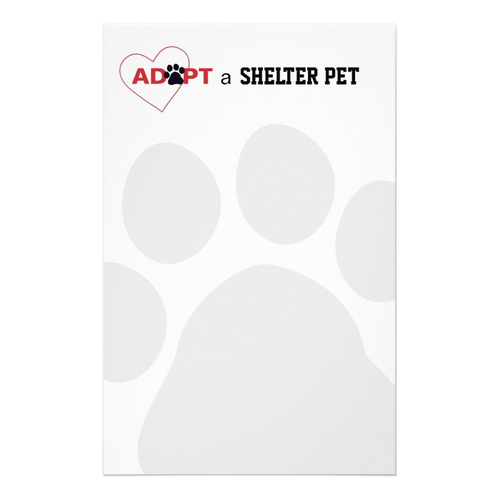 Adopt a Shelter Pet Stationery