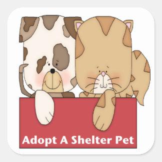 Adopt A Shelter Pet Square Sticker