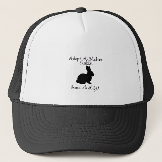 """""""Adopt A Shelter Rabbit, Save A Life!"""" Hat"""