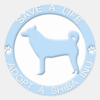 Adopt a Shiba Inu Stickers