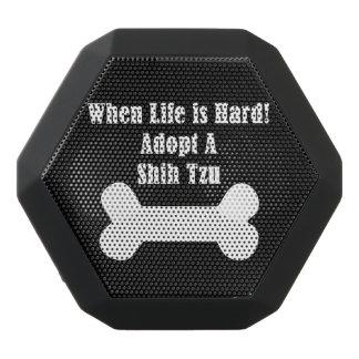 Adopt A Shih Tzu Black Bluetooth Speaker