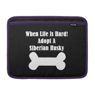 Adopt A Siberian Husky MacBook Sleeve