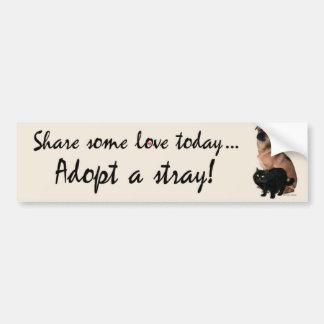 Adopt A Stray 3 Bumpersticker Bumper Sticker
